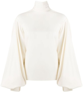 Victoria Beckham Exaggerated Bishop Sleeve Top
