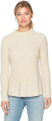 Design History Women's Mitring and Peplum Sweater