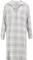 James Perse Plaid Broadcloth Shirt Dress