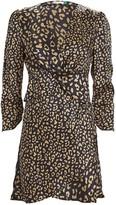 Rixo Lilly Leopard Silk Mini Dress