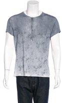 John Varvatos Floral Print Henley T-Shirt