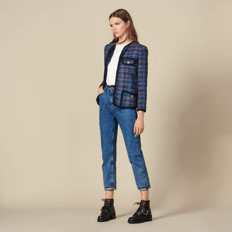 Sandro Checked tweed jacket