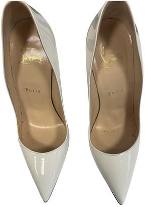 Christian Louboutin So Kate White Patent leather Heels