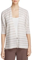 Eileen Fisher Elbow-Sleeve Organic Linen Cardigan