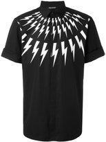 Neil Barrett lightning bolt print shirt - men - Cotton - 39