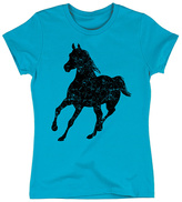 Turquoise Running Horse Fitted Tee