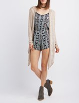Charlotte Russe Hooded Draped Cardigan