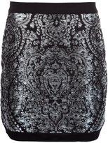 Balmain minijupe brodée