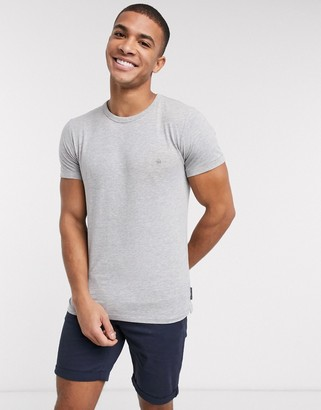 French Connection Essentials t-shirt in gray
