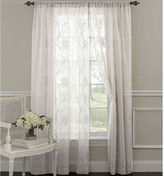 Laura Ashley Frosting Rod-Pocket 2-Pack Sheer Curtain Panels