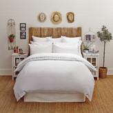 Lexington Poplin Duvet with Embroidery - White/Grey - Double