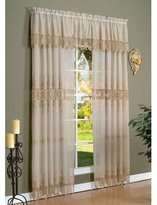 Commonwealth Embroidered Faux Linen Macramé Panel Color: , Size: