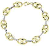 Lord & Taylor 14K Yellow and White Gold Link Bracelet