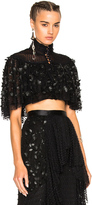 Rodarte High Neck Cropped Blouse