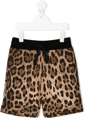 Dolce & Gabbana Kids Leopard Print Shorts
