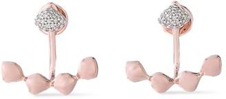 Monica Vinader 18-karat Rose Vermeil Diamond Earrings