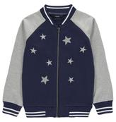 George Star Appliqué Shimmer Bomber Jacket