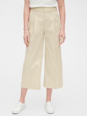 Gap High Rise Wide-Leg Khaki Pants