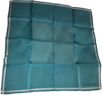 Saint Laurent Turquoise Cotton Scarves
