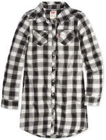 Levi's Plaid-Print Western Shirtdress, Toddler Girls