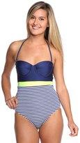 Splendid Malibu Stripe Underwire One Piece Swimsuit 8116963
