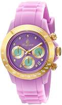 Burgmeister Florida Women's Quartz Watch with Purple Dial Chronograph Display and Purple Silicone Strap BM514-990A