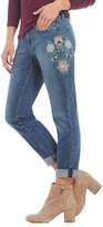 Jessica Simpson Floral Embroidered Mika Best Friend Jeans