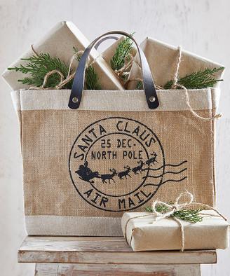 Santa Barbara Design Studio Totebags - Brown 'Santa Claus Air Mail' Tote