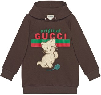 Gucci Children's Original Gucci' print and cat sweatshirt