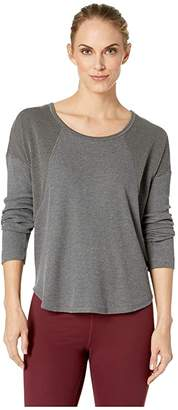 Prana Remi Waffle Pullover (Charcoal) Women's Long Sleeve Pullover