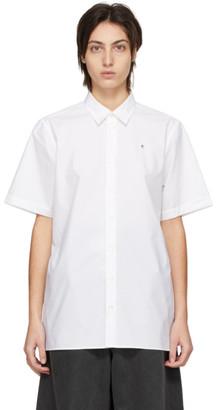 Raf Simons White R Logo Short Sleeve Shirt