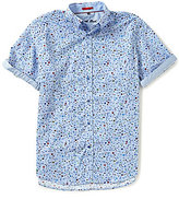 Visconti Paint Dot Print Short-Sleeve Woven Shirt