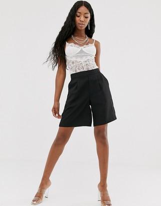 NA-KD Na Kd tailored bermuda shorts in black