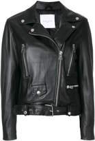 Gaelle Bonheur cropped biker jacket