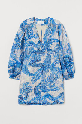 H&M Mosaic-patterned linen dress