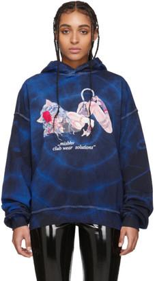 Misbhv Blue and Black Tie-Dye The Tokio Club Wear Hoodie