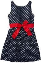 Polo Ralph Lauren Dotted Twill Button Back Dress Girl's Dress