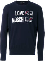 Love Moschino crewneck logo jumper