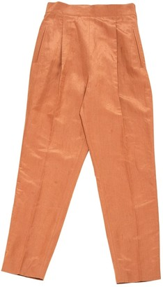 Montana Brown Linen Trousers
