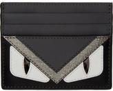 Fendi Black and Grey bag Bugs Card Holder