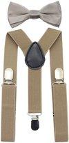 JAIFEI Suspender&Bow Tie Set-Adjustable Strong Clip-on Suspender for Boys&Girls