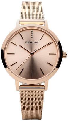 Bering Ladies' Classic Stainless Steel Mesh Watch