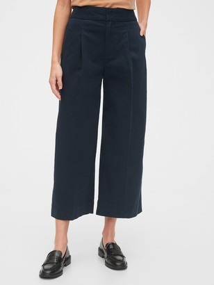 Gap High Rise Wide-Leg Khaki Pants