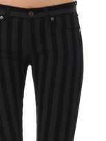 Saint Laurent Striped mid-rise skinny jeans