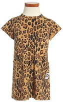Mini Rodini Girl's Leopard Print Organic Cotton Basic Dress