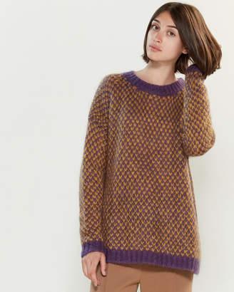 Roberto Collina Color Block Long Sleeve Sweater