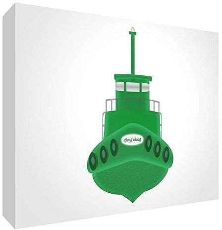 Keepsake Feel Good Art Block – Decorative of Baby, Ship Design Grande - 14.8 x 21 x 2 cm Green/White