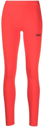 Reebok x Victoria Beckham Logo-Print Performance Tights