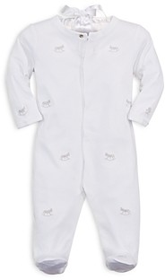 Ralph Lauren Boys' Embroidered Rocking Horse Footie - Baby