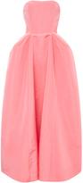 Oscar de la Renta Silk Pleat Detail Ball Gown